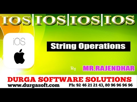 IOS || String Operations