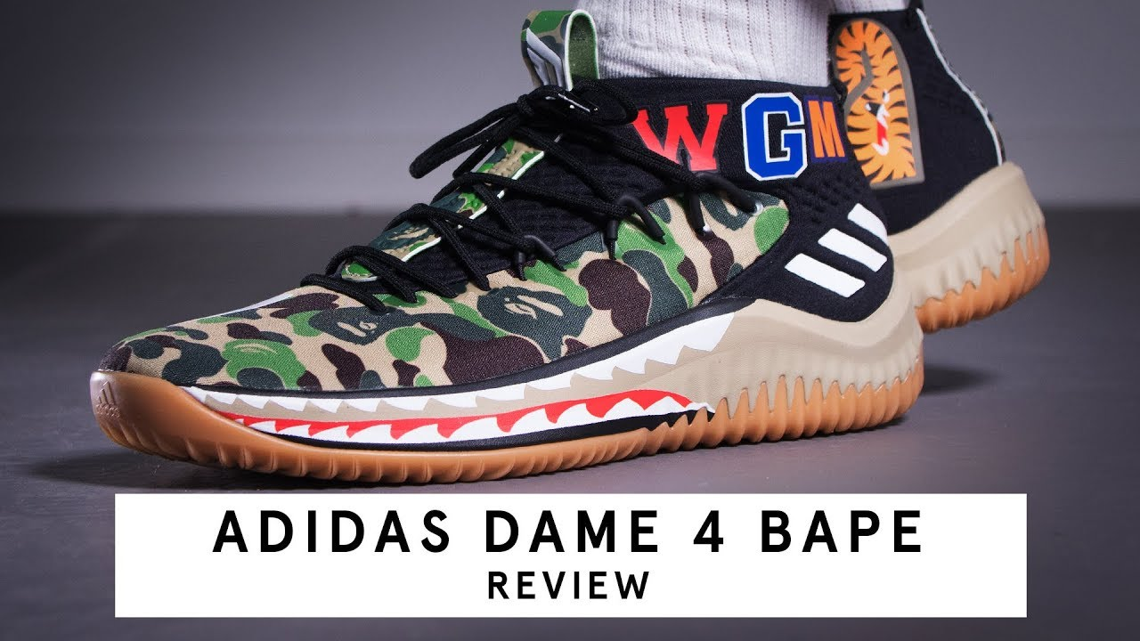 premium selection 2cf8a 0e7e2 Adidas Dame 4 x BAPE  Review (German)