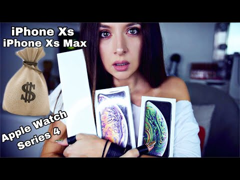 iPhone Xs, Xs Max, Apple Watch series 4 Unboxing ASMR