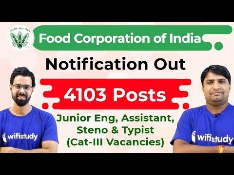 FCI JE Recruitment 2019   4103 Posts   FCI Assistant Grade 3   FCI Vacancy 2019