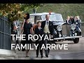 The Royal Wedding: Members of The Royal Family Arrive