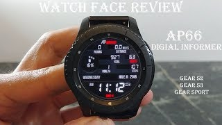Watch Face Review : AP66 Informer Gear S2 Gear S3 Gear Sport