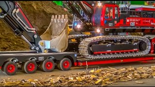 RC Truck Excavator transport Stunning R C ACTION