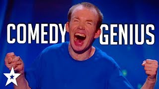 lost voice guy gets the crowd roaring britains got talent got talent global