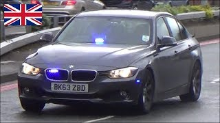 Unmarked police cars responding - West Midlands Police BMW 330d & Audi A4
