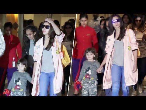 Shahrukh Khan's CUTEST Son AbRam With Alia Bhatt Spotted At Airport