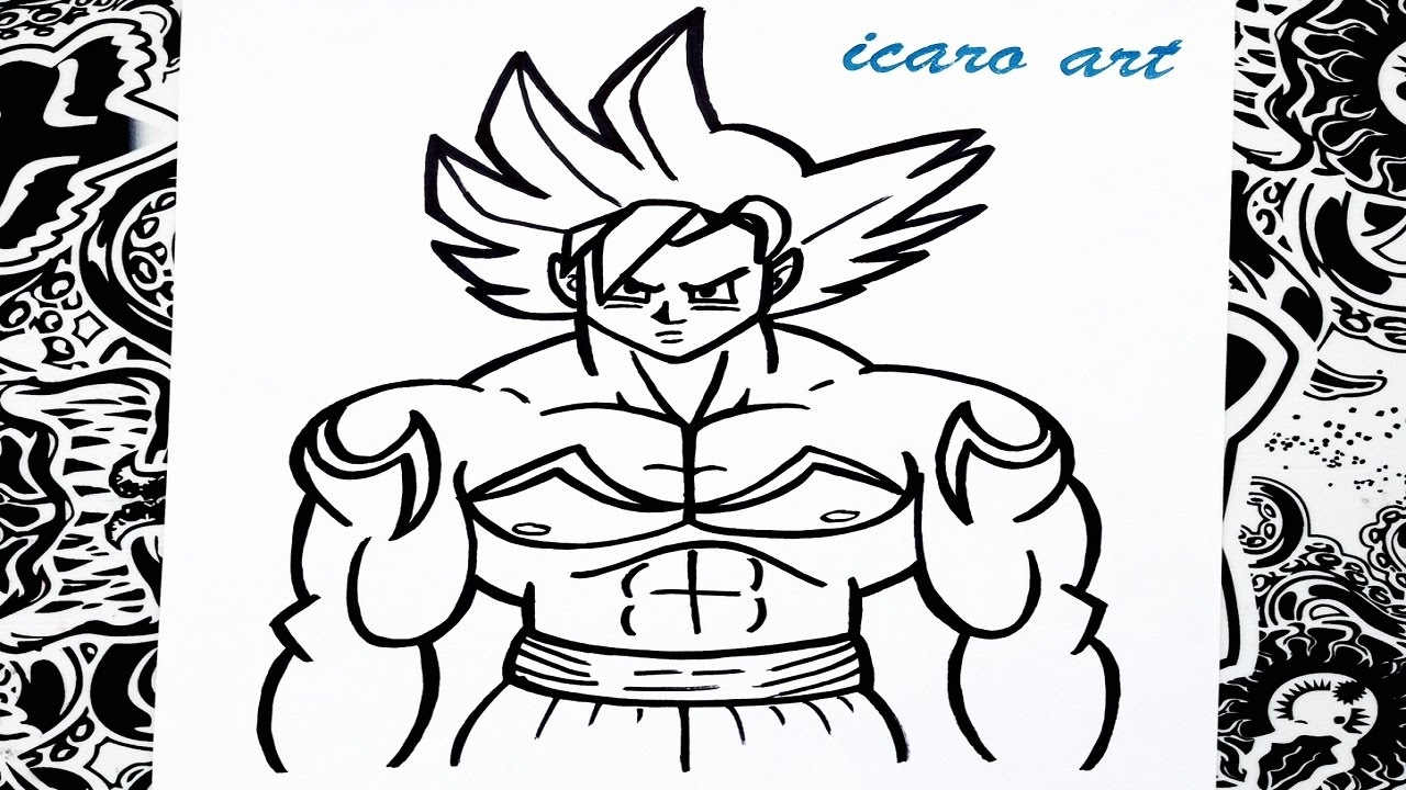 Como dibujar a goku ssj dios  how to draw goku ssj dios  YouTube