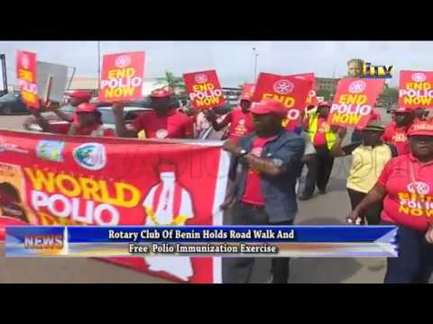 Rotary Club holds road walk and free polio immunization exercise