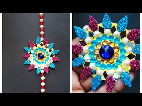 How to make Rakhi at Home//Easy Rakhi Designs