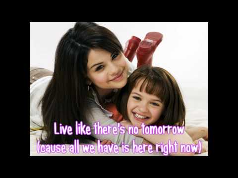Live like there's no tomorrow (Lyrics) - Selena Gomez & the Scene