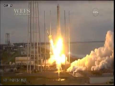 Launch of the Orbital ATK Antares/Cygnus mission 8 OA-8E ss Gene Cernan spacecraft from MARS