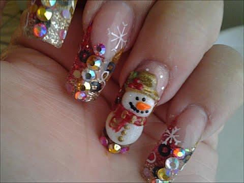 uñas para navidad 2015 / diseños uñas de navidad / decoracion para navidad nail art