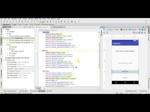 Android Insert Data into MySql Database Server - Android Mysql Connection