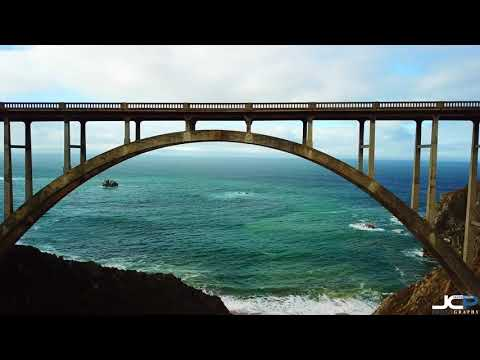 Bixby Bridge 4K Fly Under in Big Sur California