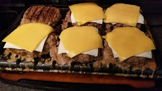 2018 George Foreman Grill 6 serving Rapid Grill Cheeseburgers RPGD3994 burgers qvc