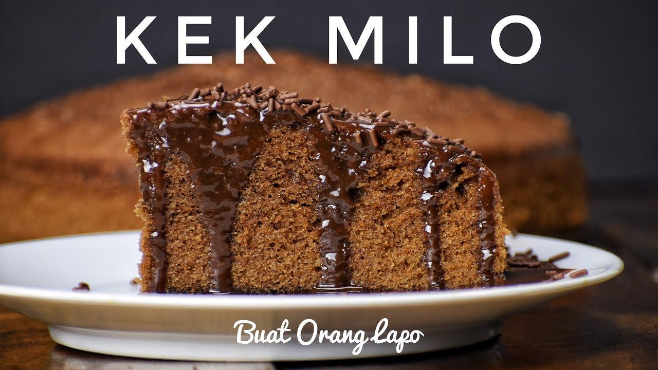Kek Milo Kukus Steam Milo Cake