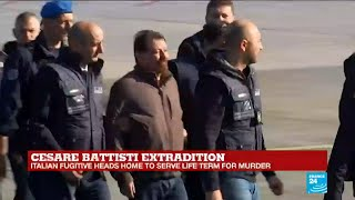 Cesare Battisti arrives in Rome after extradition