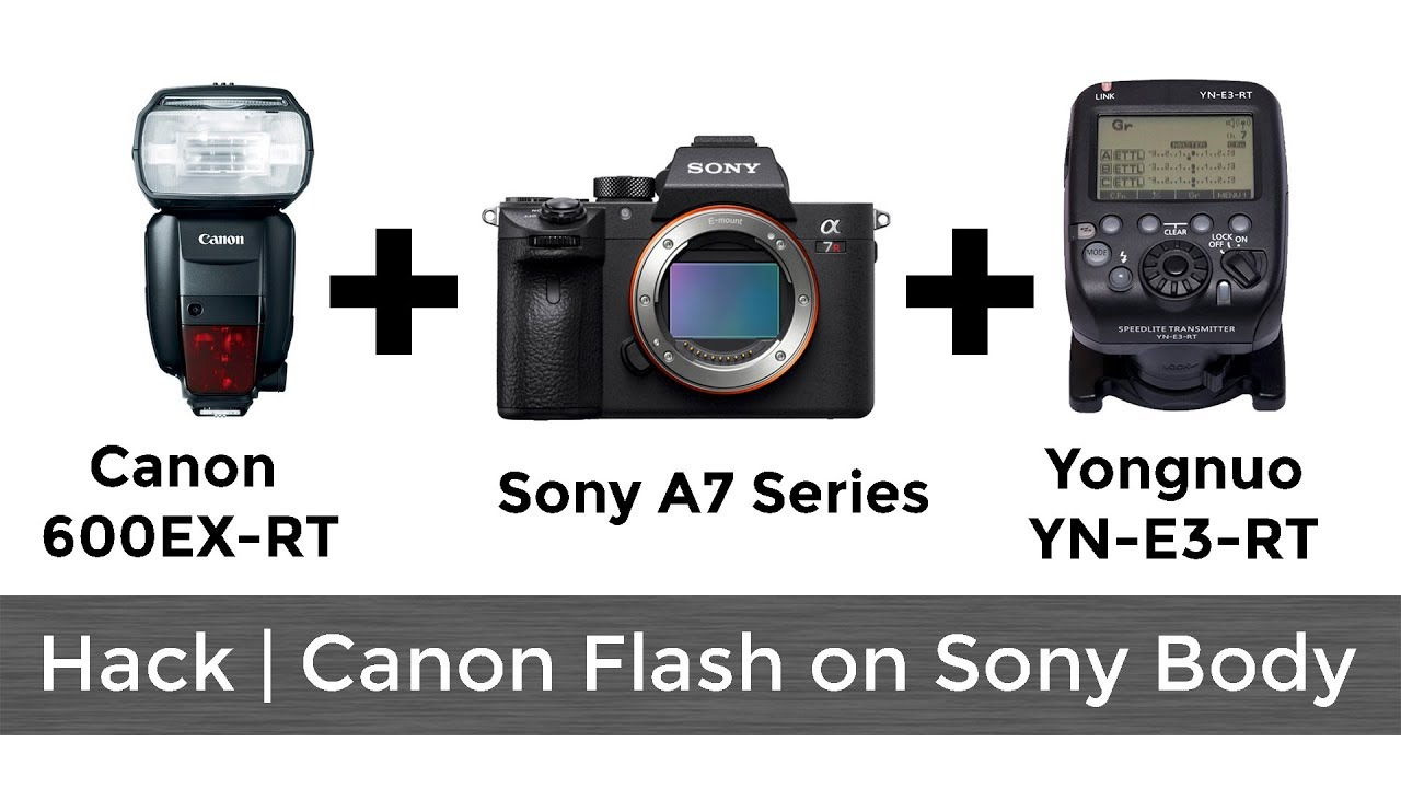 Hack | Canon Flash on Sony A7 Series Body using Yongnuo Transmitter