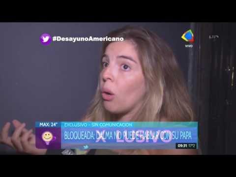 Dalma Maradona: No puedo hablar con mi papá, estoy bloqueada