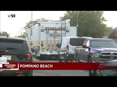 Broward Sheriff's Office and heavy police presence on scene in Pompano Beach