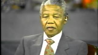 When Mr Mandela took on AmeriKKKa propaganda: Nelson Mandela destroys Ted Koppel   Part 1