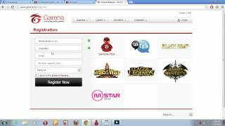 How to create a garena account