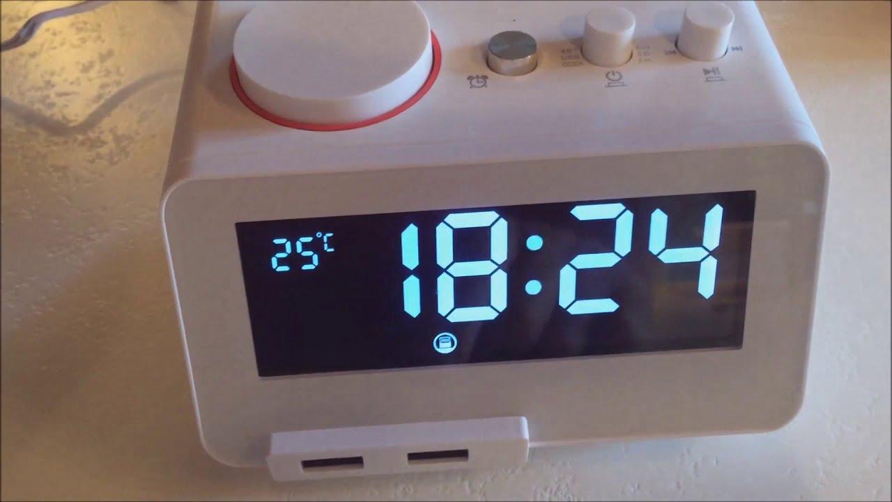 test radio reveil bluetooth lightning homtime c12 pro le. Black Bedroom Furniture Sets. Home Design Ideas
