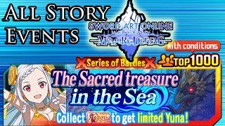Sword Art Online: Memory Defrag - All Sacred Treasure in the Sea Ranking Story Events