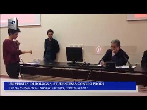 UNIVERSITA' DI BOLOGNA, STUDENTESSA CONTRO PRODI