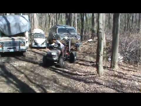 Wife S 1st Ride On Homemade Atv Youtube