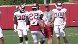 Arkansas Football Practice 8-13-19 / Defense Video