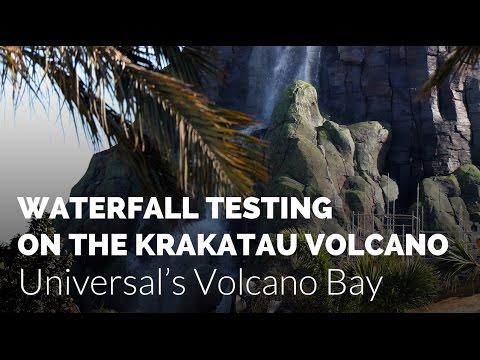 Volcano Waterfall Testing on Krakatau at Universal's Volcano Bay Water Park