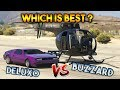 GTA 5 ONLINE : DELUXO VS BUZZARD ( WHICH IS BEST? )