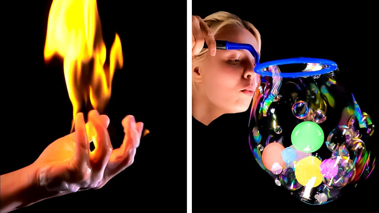 BUBBLES EXPERIMENTS and other magic science tricks || Science experiments by 5-minute MAGIC