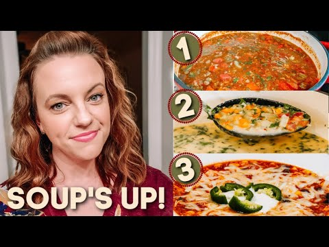 WHAT'S FOR DINNER? | 3 EASY DELICIOUS SOUPS | EASY DINNER IDEAS