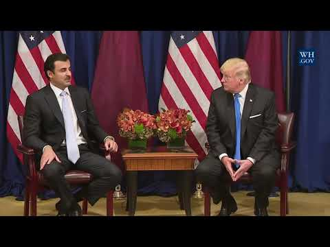 President Trump Participates in an Expanded Meeting with the Amir of Qatar