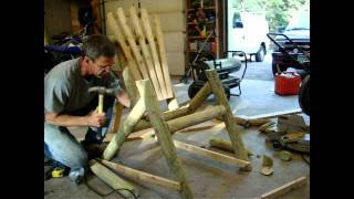 Construction: Log Furniture: Chair