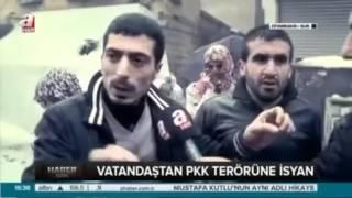 SUR'DA HALK PKK'YA LANET YAĞDIRIYOR..!!