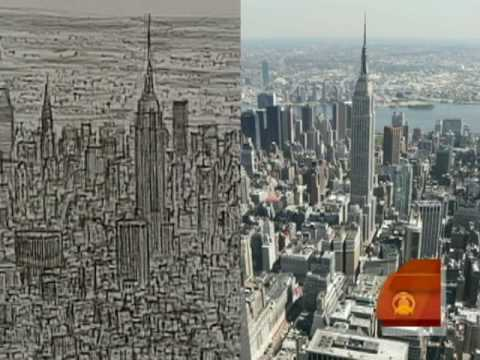 Wiltshire's NYC... New York Skyline Drawing Autistic