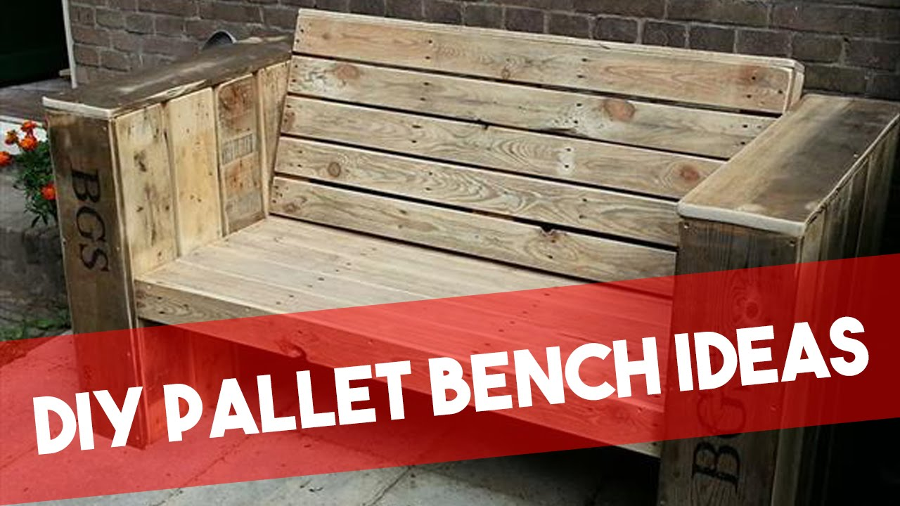 diy pallet bench ideas youtube