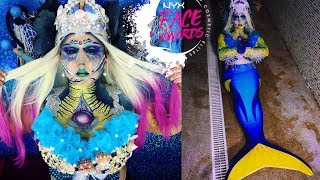 NYX FACE AWARDS ROMANIA TOP10 REINCARNATION NEPTUNIA MERMAID WATER CREATURES
