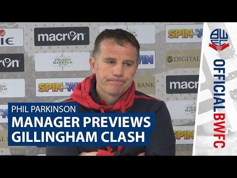 PHIL PARKINSON   Manager previews Gillingham clash