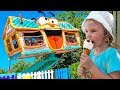 Outdoor Playground for children Amusement park Funny playtime with Milusik Lanusik