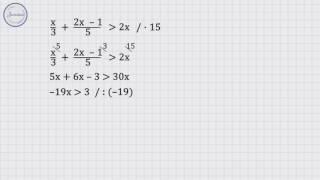 Алгебра 8 класс.  Решение линейных неравенств