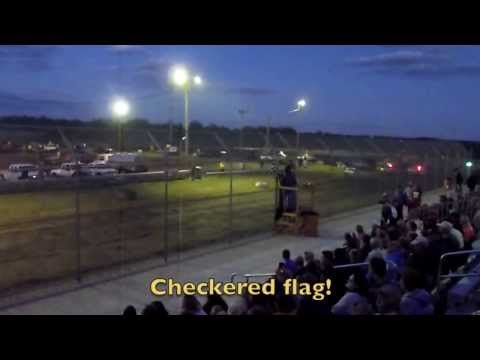 Rock County Speedway, Luverne, Minnesota - Enduro Stock Car Racing Action!