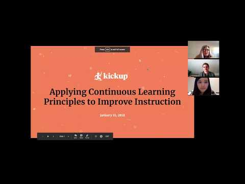 Webinar: Applying Continuous Learning Principles to Improve Instruction