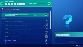 FORTNITE 14 DAYS OF SUMMER DAY 6 CHALLENGE! NEW FREE ITEMS!