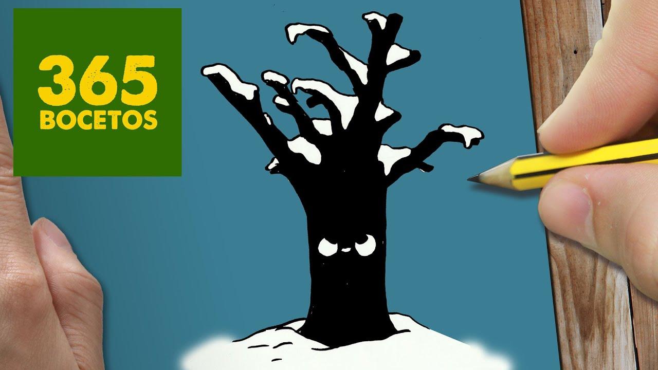 como dibujar un arbol para navidad paso a paso dibujos kawaii navideos how to draw a tree youtube