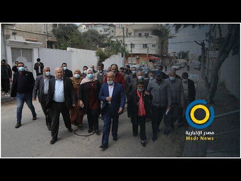 قائمة نبض الشعب تقدم أوراق ترشحها للجنة الانتخابات المركزية بغزة