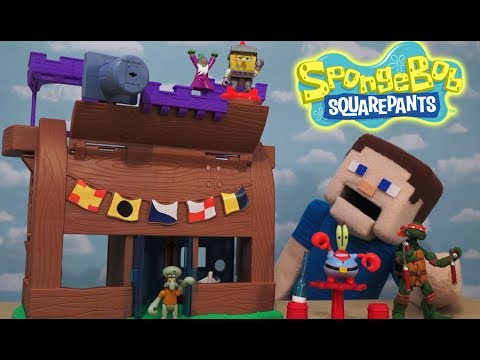 Spongebob Squarepants Krusty Krab Kastle Playset Imaginext Action figures  Fisher Price Unboxing